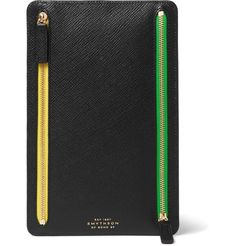 <a href='http://www.mrporter.com/mens/Designers/Smythson'>Smythson</a>'s 'Panama' currency case is designed with frequent travellers in mind. Crafted from cross-grain leather, it's detailed with four zipped pockets, cleverly colour-coded so that you can assign cash, cards and tickets to each.