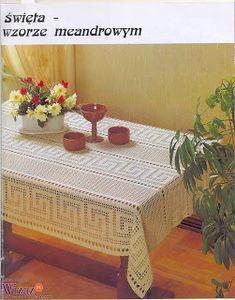 "Photo from album ""Moje robotki on Yandex. Filet Crochet Charts, Crochet Borders, Doily Patterns, Crochet Patterns, Easy Crochet, Free Crochet, Mantel Redondo, Crochet Tablecloth Pattern, Fillet Crochet"