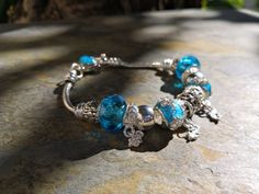 Bracelet Kendari Turquoise, Charmed, Bracelets, Jewelry, Lobster Clasp, Silver, Bead, Jewerly, Jewlery