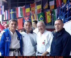 U sredini: Prof. Dr Vladimir Jorga i Prof. Dr Radomir Mudric; sa strane: Radovan Bogojevic i Rados Savic