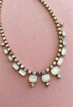 -:¦:- Carla -:¦:- Vintage,Strass,Halskette,Braut von JulisBoutique auf DaWanda.com