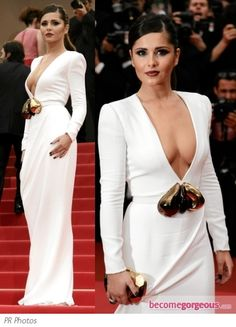 simplistic but gorgeous--Stephane Rolland white gown. worn by Cheryl Cole