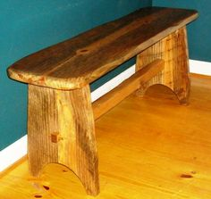 Rustic Bench the Nantucket is Hand Carved from by SauteeWoodWorks. $84.00 USD, via Etsy.