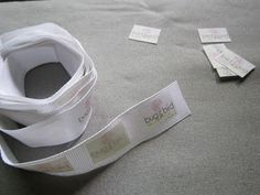 Make your own labels for your sewing goods....oh so professional (and cheap!)