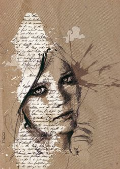 These illustrations by Florian Nicolle are beautiful! I love the use of the written graphics in works of art!