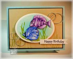 9/25/14.  Crafting The Web: Bright Birthday Fish Video and Tutorial