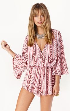 WILD AND FREE PRINTED ROMPER
