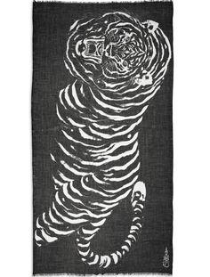 Horiyoshi The Third Big Tiger Print Scarf
