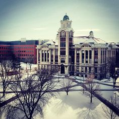 Syracuse University in the snow...