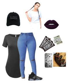 """""""Ok now what"""" by chamulind ❤ liked on Polyvore featuring NIKE, Lime Crime, Nasaseasons, Rianna Phillips, Hershey's, American Coin Treasures and Motel"""