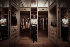 Showroom Zień Home, garderoba proj. Macieja Zienia. fot. Robert Baka