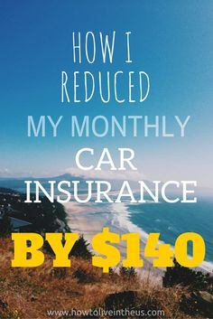 When I first moved to Los Angeles, I had absolutely no idea what car insurance quotes would look like. Here's how I reduced my monthly car insurance by $140. www.howtoliveinth...