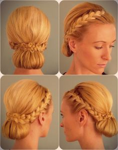 ugly hair color, but cute updo