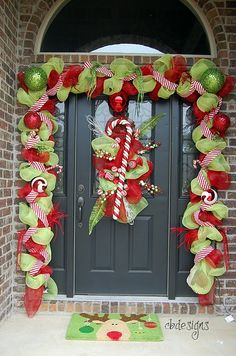 Doing something like this for my front door for the first Christmas in our new home ;)