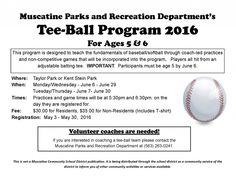 Tee-Ball school flyer