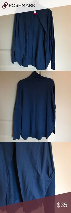 Blue Sweater/ Cardigan NWOT Blue Sweater/ Cardigan! Purchased in the old navy activewear section, but can be used for all kinds of outfits! Super soft and comfy! Runs big! Old Navy Sweaters