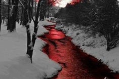 River of blood.