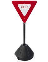 Yield Sign Stand fro School Zones