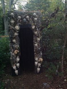 Entrance I made for the haunted trail