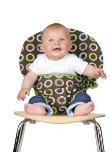 Cuter patterns available, so practical. Fits almost any chair. Great for going to restaurants!