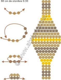 Beaded Earrings Patterns, Beaded Jewelry Designs, Bead Loom Patterns, Beading Patterns, Diy Beaded Bracelets, Beaded Rings, Jewelry Making, Macrame Bracelets, Bead Jewelry