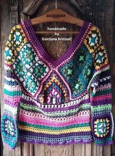 Crochet Coat, Crochet Jacket, Vintage Rock, Square Skirt, Long Winter Coats, Hippie Tops, Hooded Scarf, Gypsy Skirt, Boho