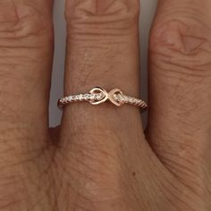 Rose Gold over Sterling Silver Infinity CZ Ring, Toe, Midi, Pinky and Knuckle Ring by IndigoandJade on Etsy