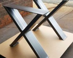 Modern Dining Table X Legs Model 007 Heavy Duty Metal by DVAMetal