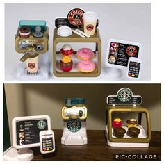 Even the baked goods are a refurbished version of this coffee and pastry set. This Mom Built Her Kid A Target & Starbucks Playroom (And It's Amazing) Starbucks Apron, Starbucks Menu, Starbucks Coffee, Pretend Grocery Store, Cheap Laminate Flooring, Toddler Playroom, Montessori Playroom, Food Truck Design, Pumpkin Spice Coffee
