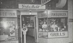 Cafes and Milk Bars were a vibrant part of the retail precinct of any country town in Australia Camden Nsw, Modernism, Vintage Advertisements, Sydney, Advertising, Milk, Australia, Bar, History