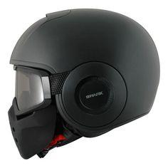 Shark X-Drak Blank Matte Black KMA Neo Retro Motorcycle Jet Helmet NEW