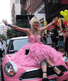 Betsey Johnson thinks pink! <3 Betsey! - We can't wait to tune-in to #XOXBetsey this Sunday, May 12 at 8/7C on #StyleNetwork!
