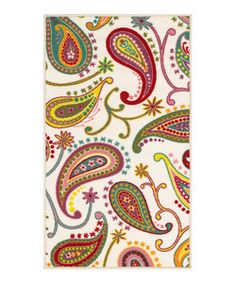 zulily-Exclusive Ivory Paisley Rug | Something special every day