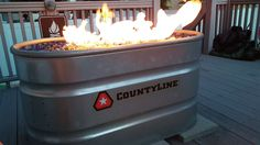 Use a stock tank to make a DIY outdoor fire pit!