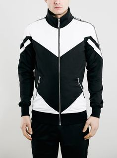 Criminal Damage Black And White Track Top*