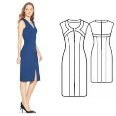 The FREE dress patterns are in standard sizes (S, M, L, XL) and available for download as PDF files. It is a lovely dress with V neckline and short sleeves.