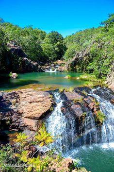 Macaquinhos: Chapada dos Veadeiros. Esse complexo de cachoeiras inclui quedas com grutas, encontro de rios e até uma cachoeira de nudismo