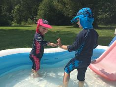 When you are spending your summers here, you definitely need to be sun conscience. We have been wearing our Konfidence UV protection to protect the kids. Swimming Gear, Kids Swimming, Sun, Let It Be, How To Wear, Solar