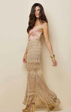 Beautiful Crochet skirt ║ #fashion #style