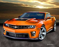 Muscle Car  2012 Camaro ZL1 Art Print  8x10 Print in by ArtWorkz, $20.00