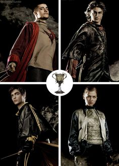 HARRY POTTER, VIKTOR KRUM, CEDRIC DIGGORY, FLEUR DELACOUR, TRIWIZARD TOURNAMENT, GOBLET OF FIRE
