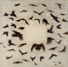 Kaze, Element of air, Japanese, Tibetan paper, encaustic oil on panel Catherine Eaton Skinner (Waterworks Gallery) Bird Stencil, Encaustic Painting, Wildlife Art, Art Plastique, Animal Paintings, Bird Art, Artist Art, Textile Art, Collage Art