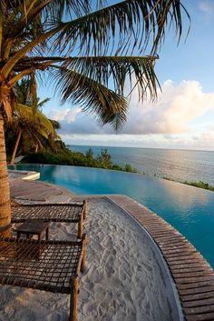 Zanzibar, Tanzania, Africa - #awesome #amazing #palmtree #swimmingpool