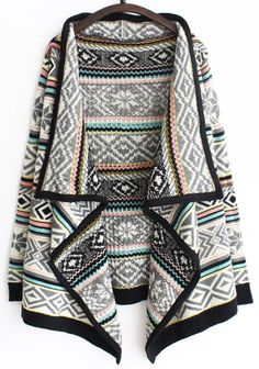 Knitting cardigan is always the one you are seeking for in this fall, geometry printing and stripe bring out the best in each other, soft fabric and high quality leave you no worries. More at Cupshe.com!