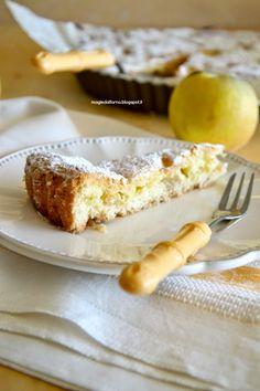 Crostata morbida di mele al vin Santo e crema pasticcera | magie dal forno