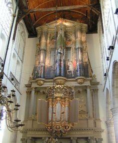 The Van Hagerbeer-organ St. Laurenskerk, Alkmaar, Netherlands (closed)