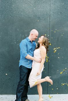 Photography: Matoli Keely Photography - www.matolikeelyphotography.com   Read More on SMP: http://www.stylemepretty.com/2016/07/25/central-park-new-york-city-rooftop-engagement/