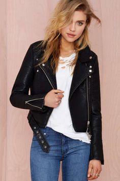 Nasty Gal Atomic Vegan Leather Jacket - Moto | Jackets | Jackets + Coats | Jackets + Coats