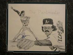 Dennis Eckersley signed drawing