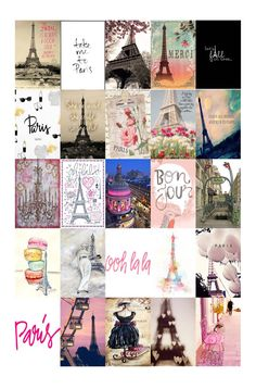 Stickers Paris Themed Pictures and Quote Erin by SassyFrassyHome